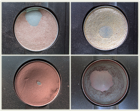 Clockwise from top left (all MAC): Naked Lunch, Nylon, Club and Shag