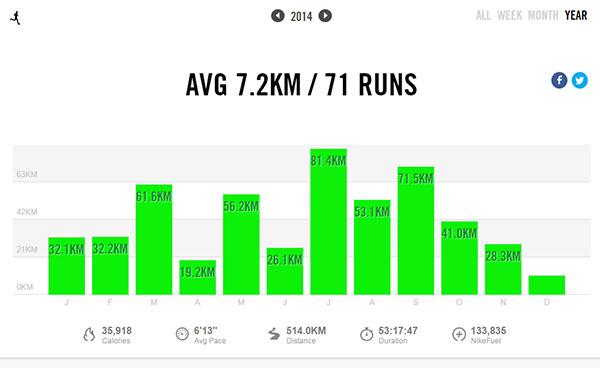 Nike+ 2014 log
