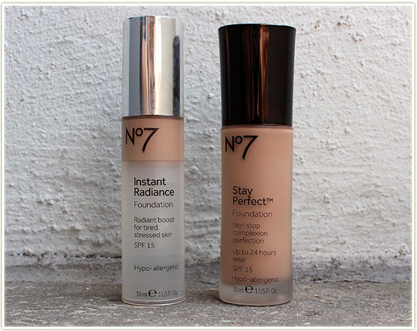 Boots No7 foundations: Instant Radiance and Stay Perfect