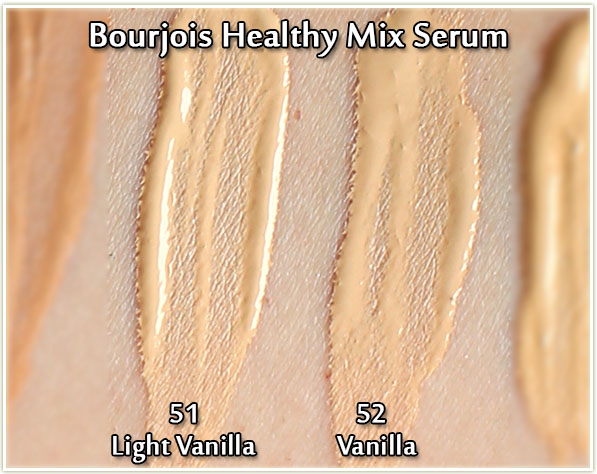 Bourjois Healthy Mix Serum in 51 Light Vanilla and 52 Vanilla