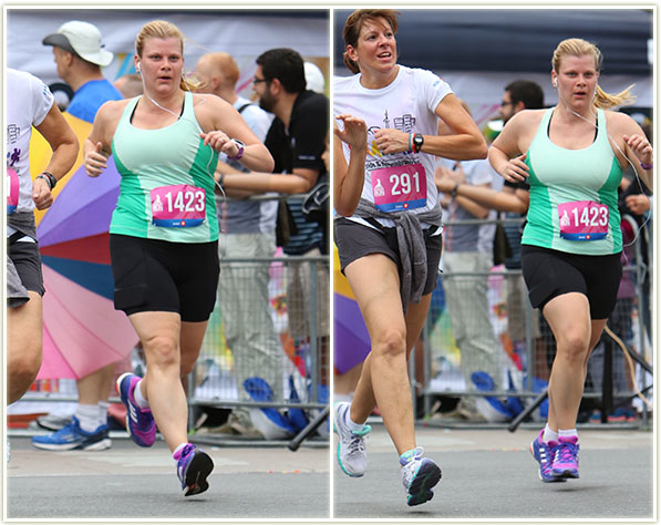 These shots were taken fairly close to the finish line.