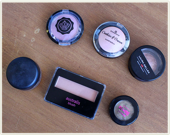 Random assortment of eye and cheek products (free - swap)