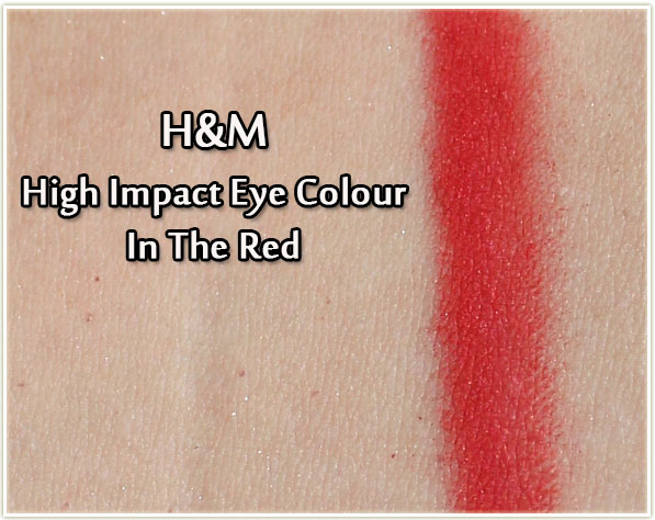H&M High Impact Eye Colour - In The Red (swatch)