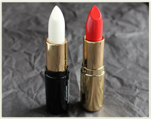 H&M Lip Fixation Primer and lipstick in Candy Apple