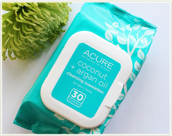 ACURE Coconut & Argan Oil Cleansing Towelettes