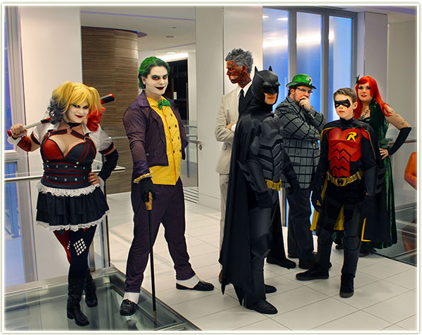Halloween 2015: Harley Quinn, The Joker, Two Face, Batman, The Riddler, Robin and Poison Ivy