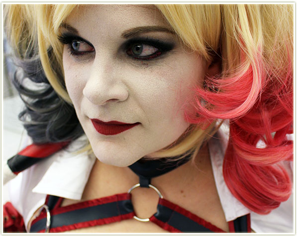 Halloween 2015 - Harley Quinn - face close up