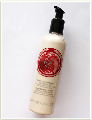 The Body Shop Frosted Cranberry Shimmer Lotion (free - gift)