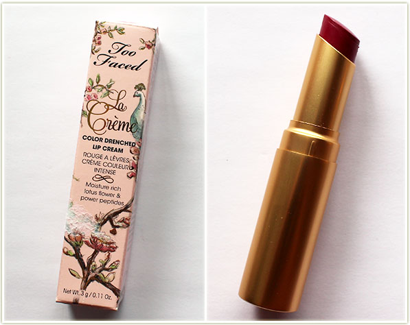 Too Faced La Creme in Loganberry
