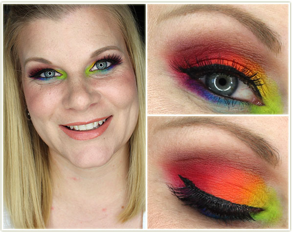 Viseart Editorial Brights makeup look