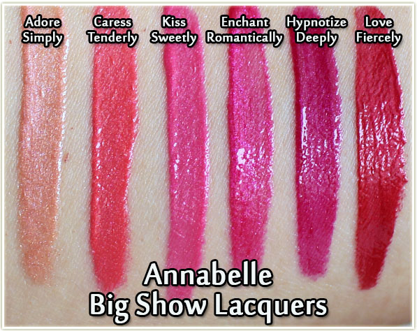 Annabelle Big Show Lacquers Swatches