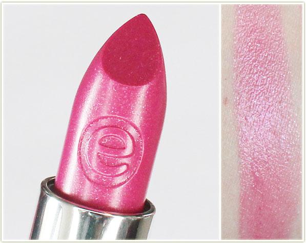 Výsledek obrázku pro essence sheer shine lipstick 07 sparkling