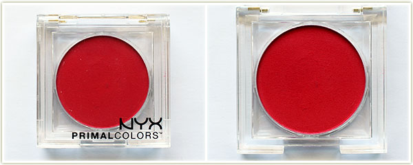 NYX Primal Color shadow in Hot Red (free)