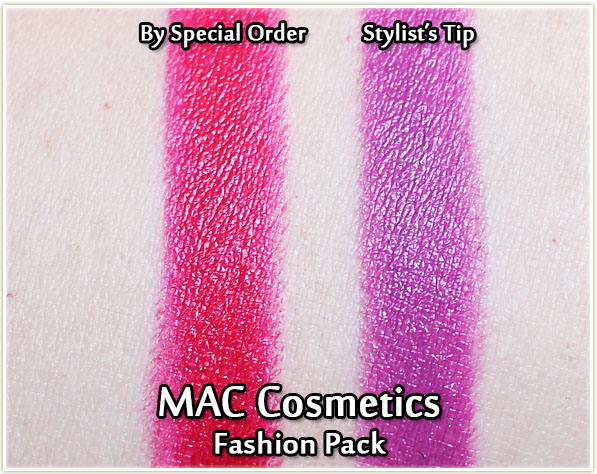 MAC By Special Order and Stylist's Tip - swatches