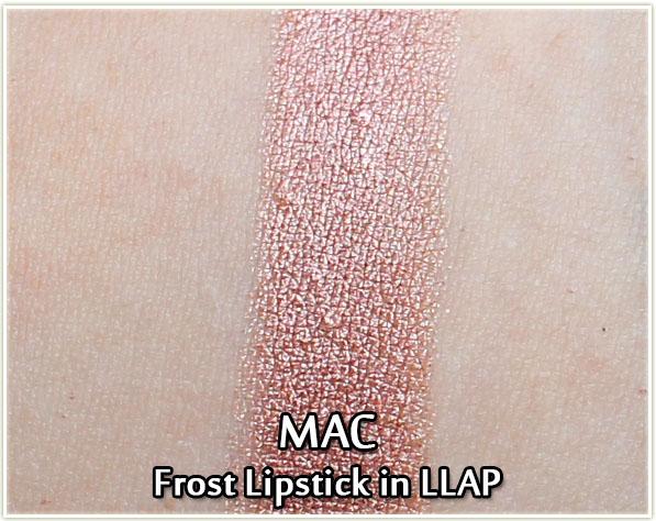 MAC Star Trek - Frost Lipstick in LLAP - swatch