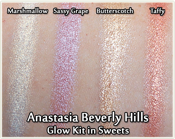 Anastasia Beverly Hills Glow Kit in Sweets - swatches