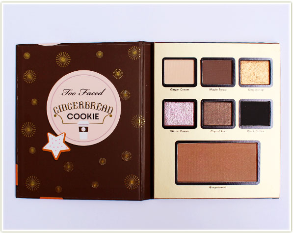 Too Faced Holiday 2016 - Grand Hotel Cafe - Gingerbread Cookie palette