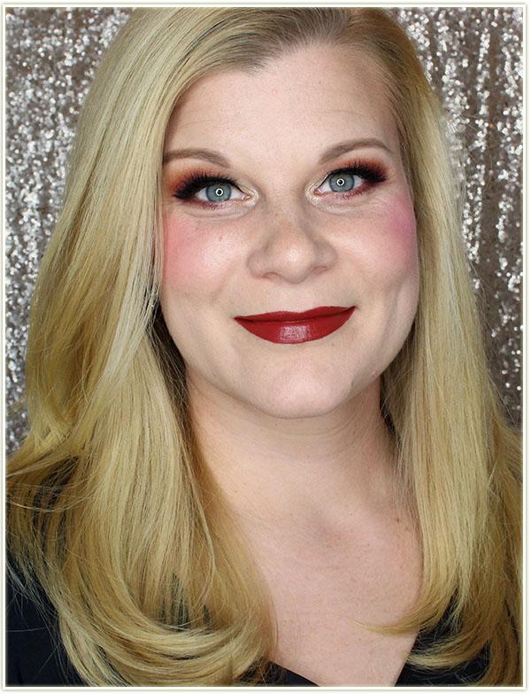 Wearing NARS Audacious Lipstick in Leslie