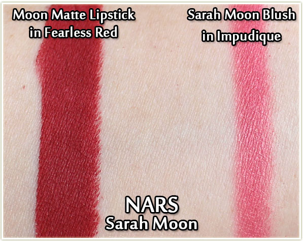 NARS Fearless Red and Impudique - swatches