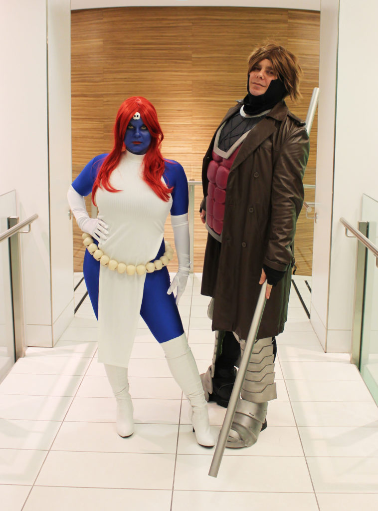 Mystique and Gambit (myself and my husband!)