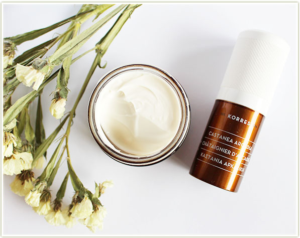 Korres Castanea Arcadia Wrinkle Rewind Night Cream and Eye Cream