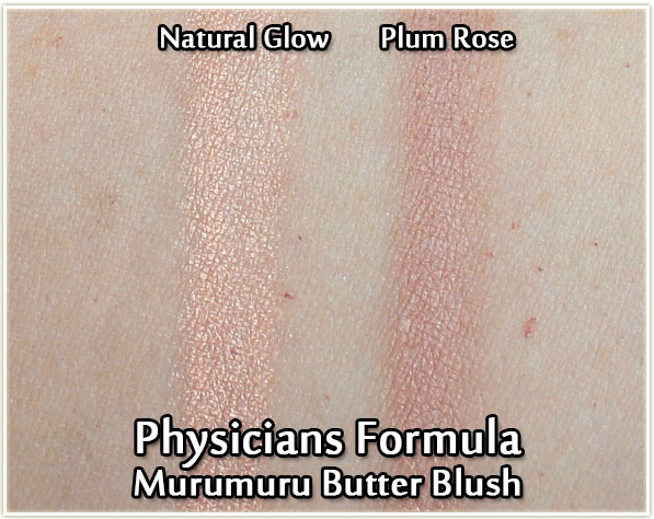 Physicians Formula Butter Blushes in Natural Glow and Plum Rose - swatches