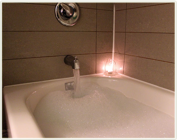 The Live Clean Spa Therapy Moisturizing Foam Bath produces a TON of bubbles!