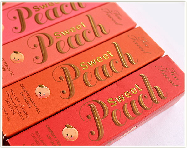 Too Faced Sweet Peach Creamy Peach Oil Lip Gloss