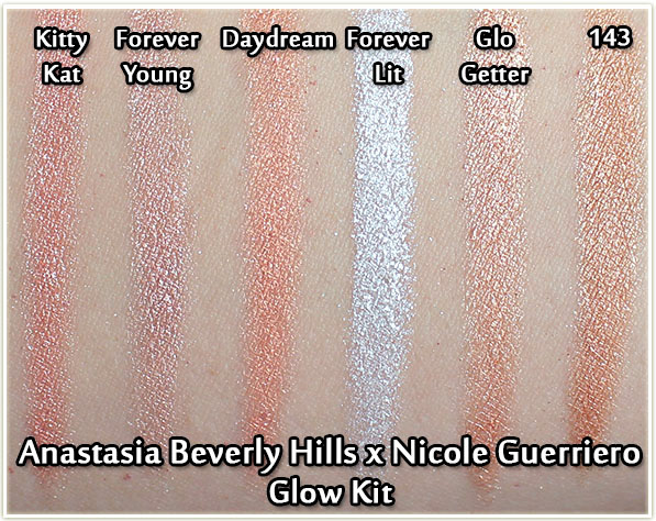 Anastasia Beverly Hills x Nicole Guerriero Glow Kit - swatches