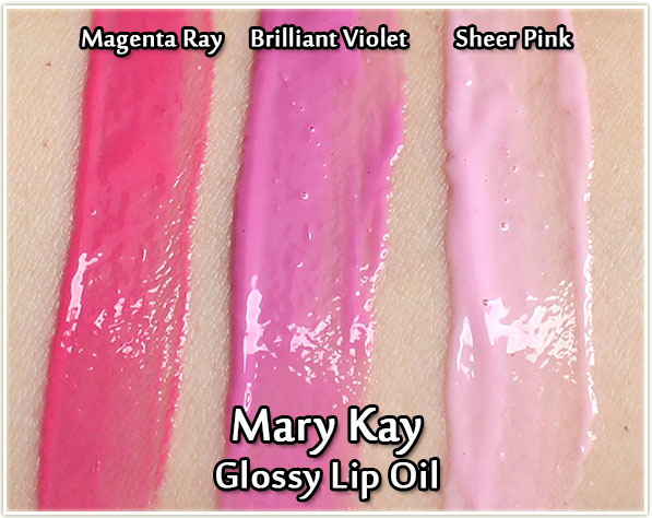 Mary Kay Spring 2017: Light, Reinvented - Glossy Lip Oils - swatches