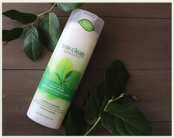 Live Clean Green Earth body wash