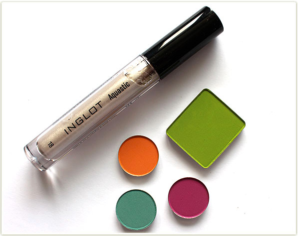 Inglot Aquastic in 18 and Inglot Ms. Butterfly eyeshadows