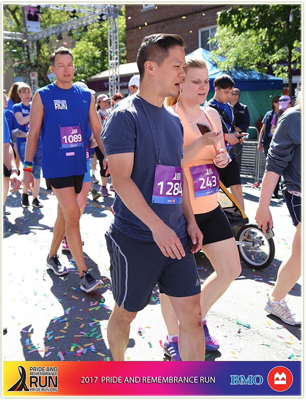 Heck, even before the race started, my friend and I did not look super keen on it!