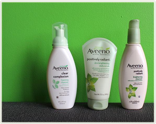 Aveeno face washes