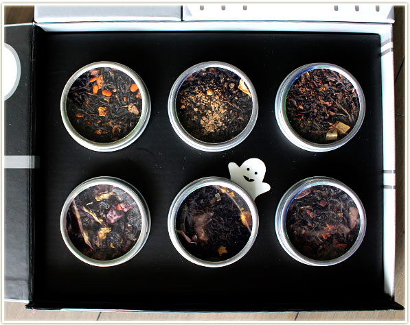 DAVIDsTEA Haunted Mansion Survival Kit contains six teas to try