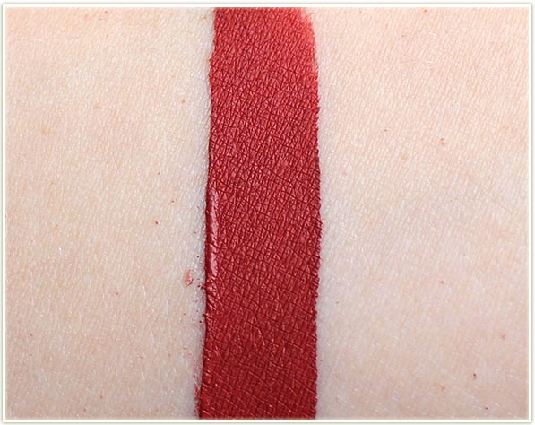 Too Faced Melted Matte in Gingerbread Man - swatch