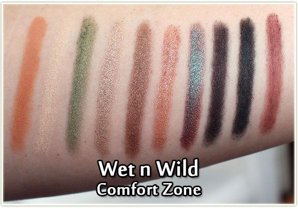 Wet n Wild - Comfort Zone - swatches