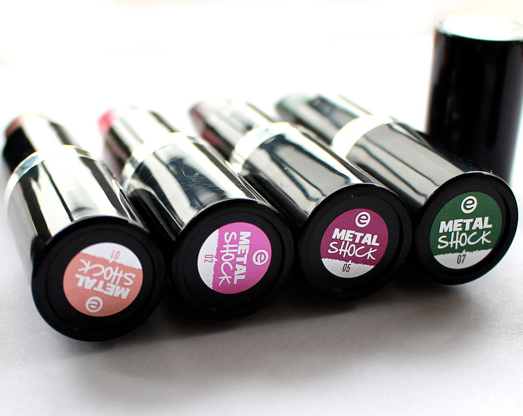 essence Metal Shock Lipsticks
