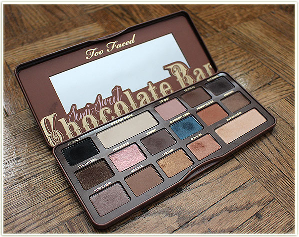 Swatch Sunday Too Faced Semi Sweet Chocolate Bar Palette